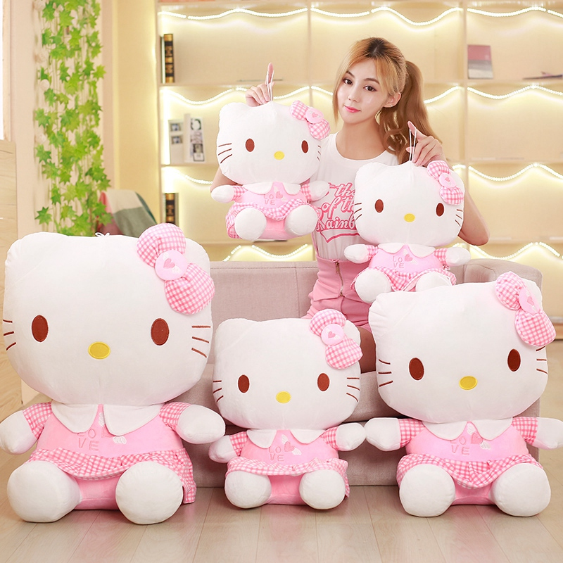 цена на Genuine Hellokitty doll plush toys, adorable Hello Kitty dolls, girls day gift, Christmas gift/40CM