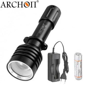צלילה ציד פנס ארכון D10U W16U Zoomable צלילה אור מתחת למים פנס עבור 18650 סוללה