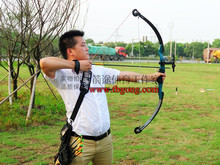 Free shipping 50lbs Compound Bow sets with archery sight and arrow rest 6 months guarentee