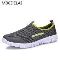 Men Shoes Fashion 2016 Summer Comfortable Sport Men Casual Shoes Mesh Breathable Plus Size 38 46