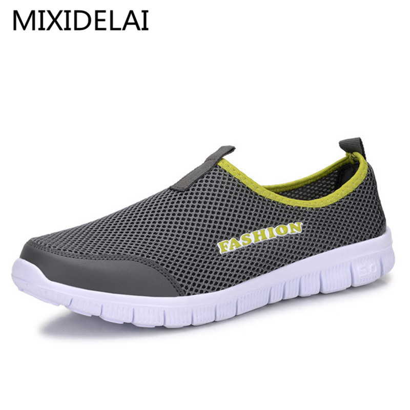 Men Shoes Fashion 2017 Summer Comfortable Men Casual Shoes Mesh Breathable Flat shoes cheap shoes Plus Size 34-46 men casual shoes lace up mesh men outdoor comfortable shoes patchwork flat with breathable mountain shoes 259