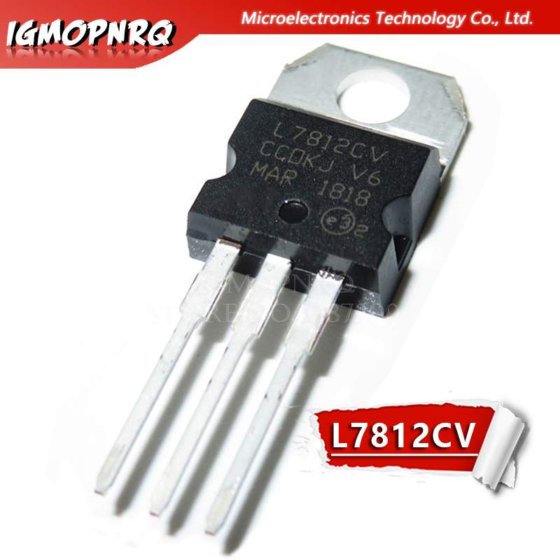 10pcs Free Shipping L7812CV L7812 KA7812 MC7812 Voltage Regulator 12V 1.5A TO-220 New Original