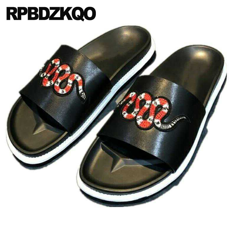 Sandals Slip On Embroidery Outdoor