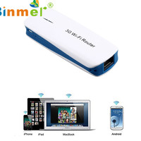 Binmer 2017 Freeshiping 5 In 1 Mini Portable 150Mbps 3G WIFI Mobile Wireless Router Hotspot Sep