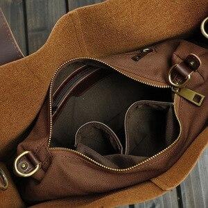 Image 5 - 새로운 빈티지 가죽 서류 가방 남자 메신저 가방 브라운/블랙 럭셔리 비즈니스 서류 가방 문서 변호사 노트북 가방 도매
