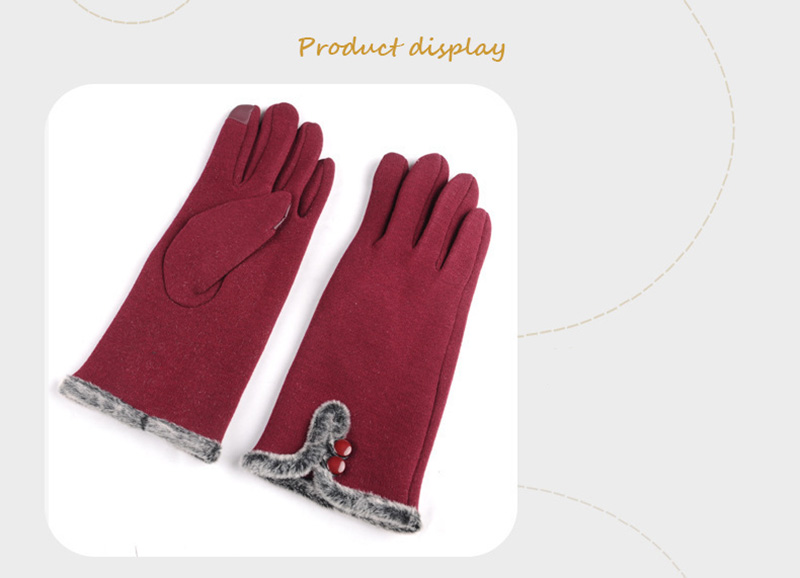 Comfortable and Warm Non Inverted Touch Screen Gloves for Women with Sensitive Touch Screen Function without Hand Exposing to Cold 12