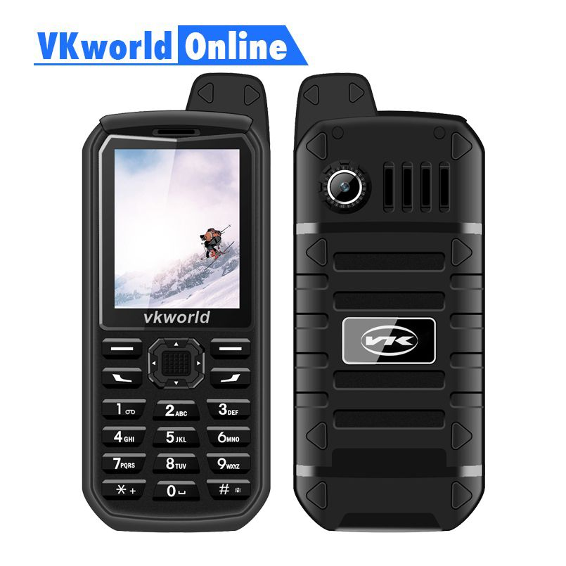 Vkworld New stone V3 Plus Mobile Phone 2G GSM Dual Sim Telefoni 3000 mAh Lungo Standby 2.4 pollici IP54 Antipolvere impermeabile Cellulare