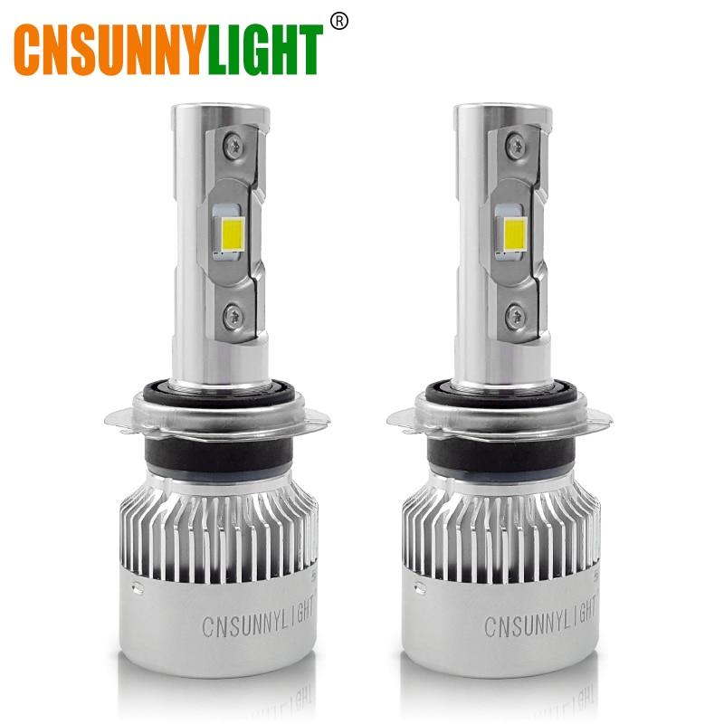 CNSUNNYLIGHT H7 H4 H11 H1 H13 H3 9005 9006 9007 9012 880 <font><b>LED</b></font> Car Headlight Bulbs 40W 7120LM/pair 5500K Auto Headlamp 12V 24V