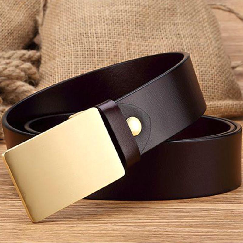 2019 nouvelles boucles en laiton massif 100% ceinture en cuir véritable hommes ceintures de luxe ceinture cowboys haute qualité taille sangle jeans
