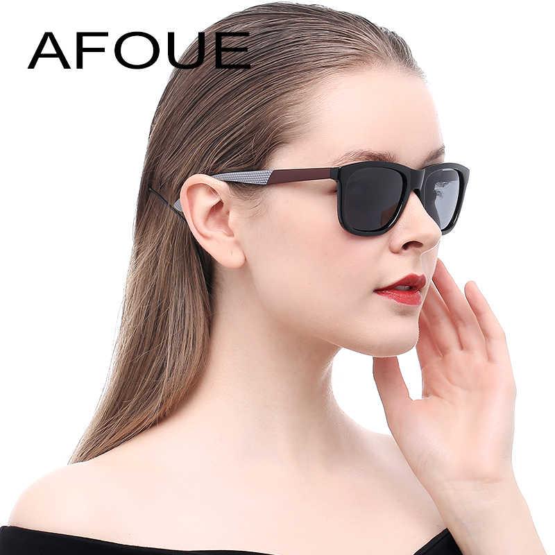 517b6c466 AFOUE Brand Retro Sunglasses Women Men Square Polaroid Lens Driving  Polarized Sun Glasses For Woman Male