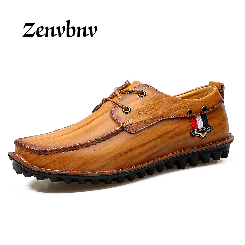 ZENVBNV Fashion Men Genuine Leather Shoes Casual Men Flats Leather Loafers Luxury Brand Men Shoes Casual Male Shoes 38~44 size 2015 new fashion british martin causal genuine leather men shoes brand camel men shoes real leather men flats casual shoes man