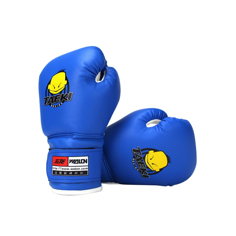1 Pair Child Durable Boxing Gloves PU Leather Cartoon Sparring Kick <font><b>Fight</b></font> Gloves Training Fists Muay Sandbag High Quality image