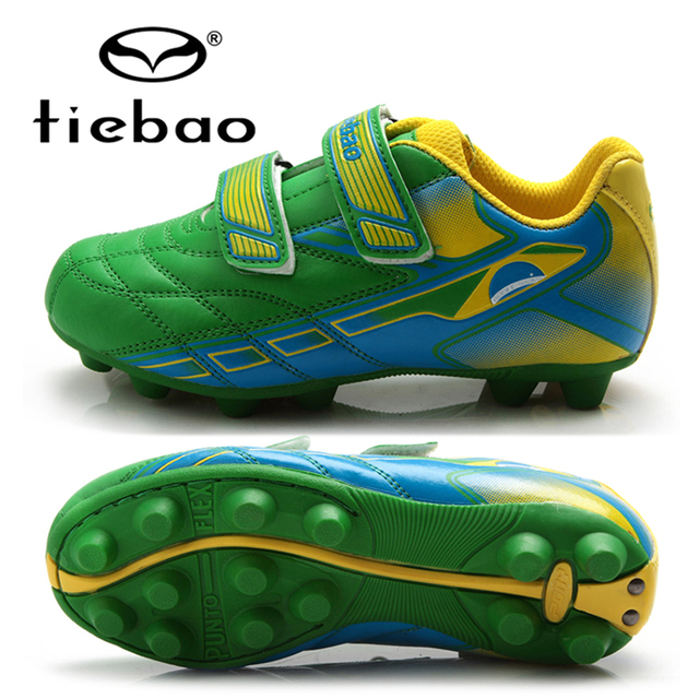 TIEBAO Professional Children Soccer Shoes Boys Football Boots Outdoor  Anti-Slip AG Soles Soccer Cleats a3f70b967670