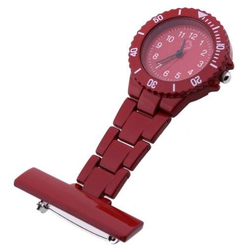 Wholesale Red Quartz Movement Nurse Brooch Fob Tunic Pocket Pendant Watch