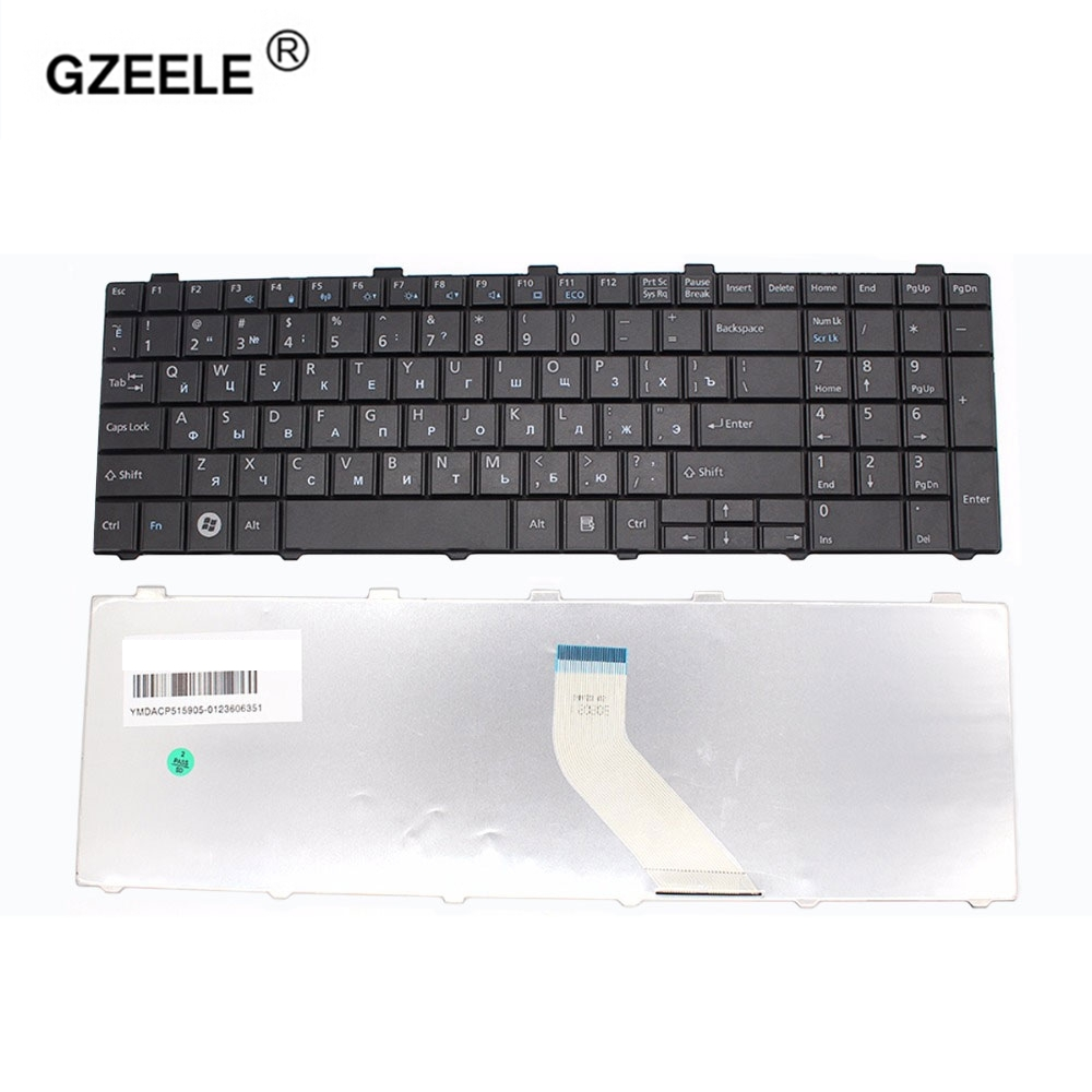 GZEELE Russian Keyboard For Fujitsu Lifebook A530 A531 AH530 AH531 NH751 AH502 RU Black Laptop Keyboard