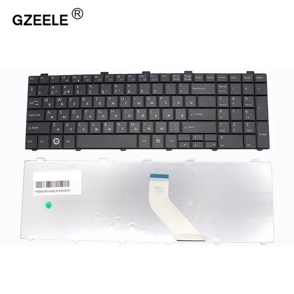 GZEELE Russian Keyboard For Fujitsu Lifebook A530 A531 AH530 AH531 NH751 AH502 RU Black Laptop Keyboard