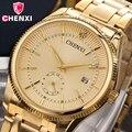 2017 chenxi relógio de ouro dos homens homem de negócios de luxo relógio de ouro à prova d' água único moda casual presente vestido relógio de quartzo masculino 069ipg