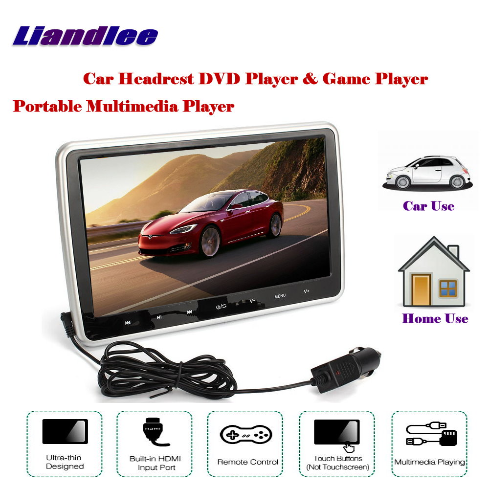 101 Inch Car Headrest Head Rest Restraints Tft Led Monitor Screen Nissan Wiring Harness Portable Dvd Player Game Back Seat Multimedia System In Monitors From