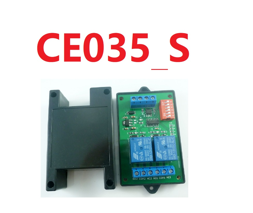 CE035_S with Shell 2CH RS485 Relay DC 12V Switch Board Modbus POLL AT command PLC for PTZ camera Electric door Water pumps LEDCE035_S with Shell 2CH RS485 Relay DC 12V Switch Board Modbus POLL AT command PLC for PTZ camera Electric door Water pumps LED