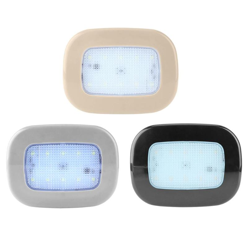 3 Colors Car Rear Row LED Reading Light Portable Book Lamp Roof LED Bulb White Light Indoor Ceiling Lamp Car Roof Rechargeable car led spotlight cree automotive short animated film spotlights roof lighting roof lamp dc10 40v