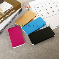 customize logo 2 USB Portable Metal Case Li Polymer External Battery Charger Power battery With Retail Packaging 50pcs