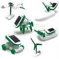 6 В 1 DIY Творческий Робот Игрушка Мощность Солнечной Преобразования Робот Игрушка Магия Преобразования Солнечной Батареи Питания Обучения Игрушка