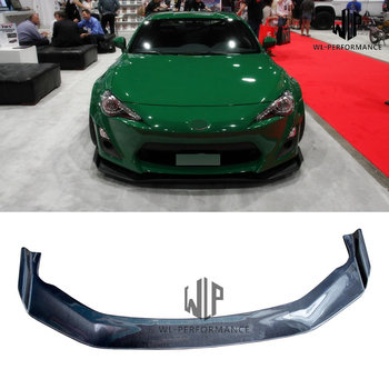 High quality Carbon Fiber Front Lip Splitter Car Styling For Toyota GT86 BRZ Car Body Kit 2013-2017 image