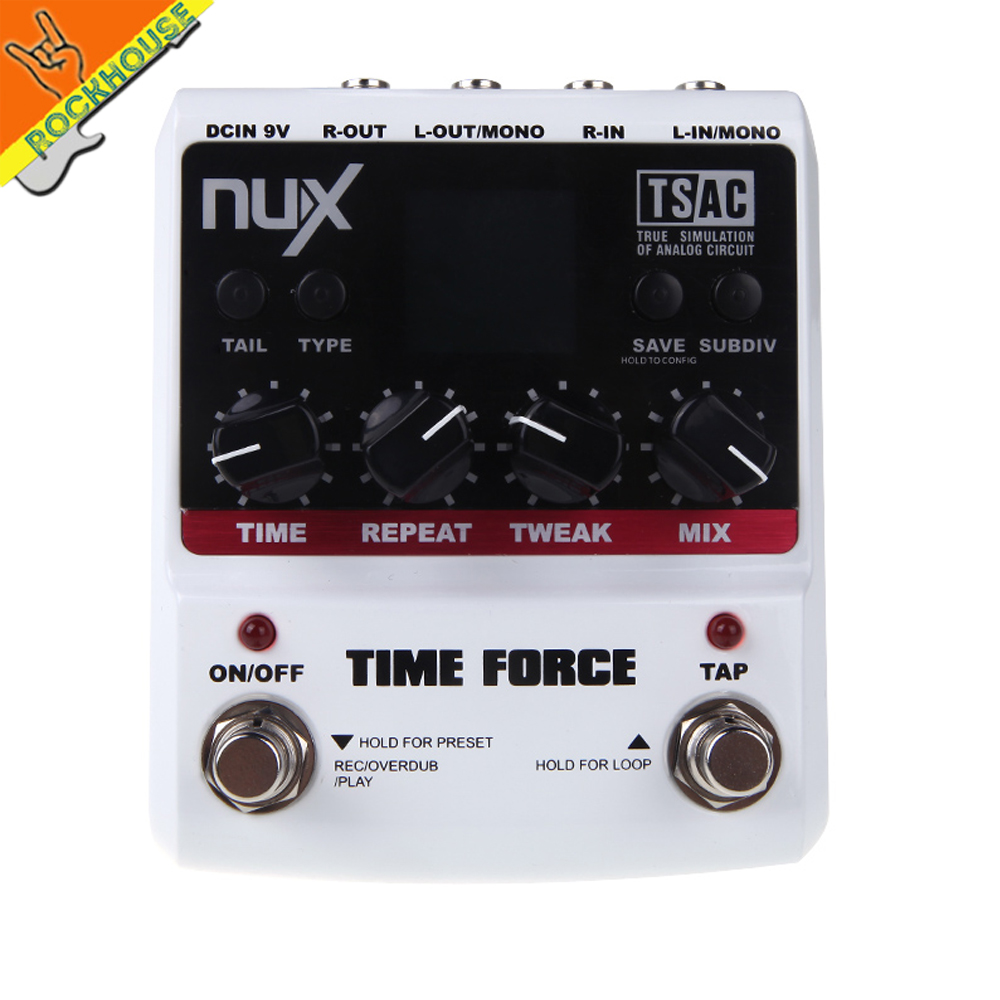NUX Time Force Mod Force Drive Force Multi-Effects pedal Distortion Overdrive Delay Guitar Pedal Affordable free shipping fastnet force 10 rei paper only
