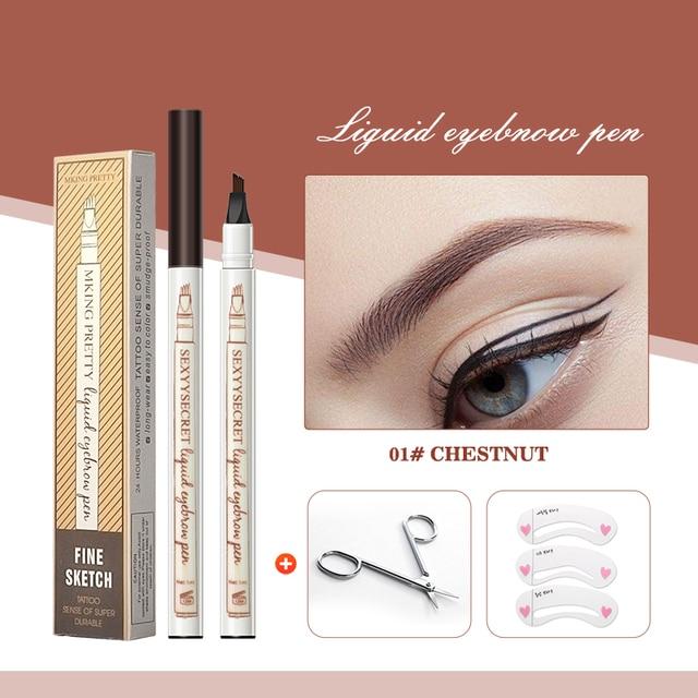 Drxiner eyebrow pencil  Microblading Eyebrow Tattoo Pen Fine Sketch Liquid Eyebrow Pen Waterproof Tattoo Durable Eye Brow Pencil 2