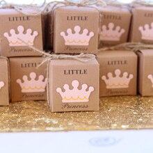 5 stücke Nette Prinzessin Prinz Kraft Süßigkeiten Tasche Geschenk Box Geschlecht Offenbaren Baby Dusche junge mädchen 1st ersten Geburtstag Party dekoration favor