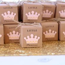 5 قطعة لطيف الأميرة الأمير كرافت كاندي حقيبة هدية صندوق الجنس تكشف استحمام الطفل صبي فتاة 1st الأولى حفلة عيد ميلاد الديكور صالح
