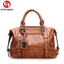 Women Bag Vintage Soft Hand Boston Bag Handbag Purses Cross Body Bags PU Leather Bags Handbags Women Famous Brands