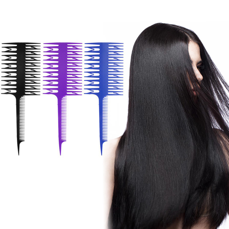 Hair Care & Styling Beauty & Health Professional Fish Bone Shape Comb Brushes Magic Unique Salon Hair Dyeing Sectioning Combs Women Hair Dyeing Styling Comb Tools
