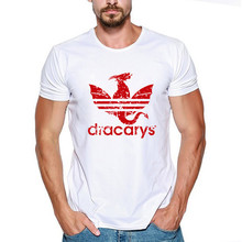 Dracarys t shirt Game Of Thrones Mother Of Dragons Khaleesi Shirt Harajuku Camisetas hombre Tshirt Men Clothing 2019 цена и фото