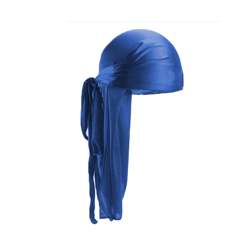 2019 New Unisex Long Silk Satin Breathable Turban Hat Wigs Doo Durag Biker Headwrap Chemo Cap Pirate Hat Men Hair Accessories