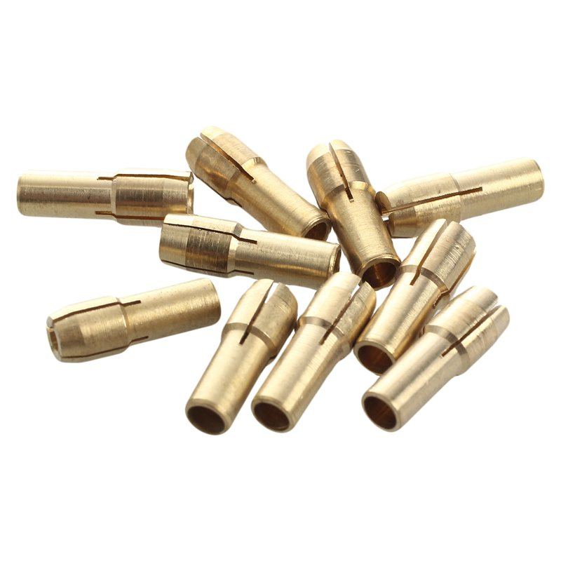 10 Pieces Mini Drill Brass Collet Chuck For Rotary Tool 0.5-3.2mm