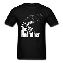 The Rodfather Fish Fisher Crewneck T-Shirt Oversized Ocean Shark Sea Father Tees Lovers Day Tops & Cotton Design Tshirt Men