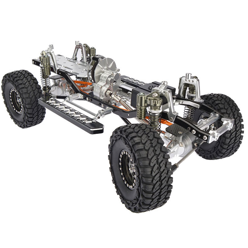RC CNC Alloy SCX10 Chassis 1 10 Scale 4WD Rock Crawler Frame Kit Assembled With The