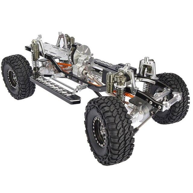 RC CNC aleación scx10 chasis 1/10 Básculas 4wd Rock crawler Marcos ...