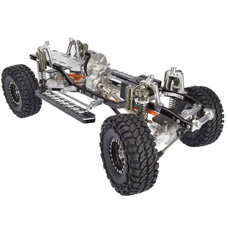 Rc cnc合金scx10シャーシ1/10スケール4wdロッククローラーフレームキット組み立てではサイドステップ横ペダル  グループ上の おもちゃ & ホビー からの パーツ & アクセサリー の中 1