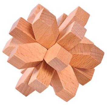 4PCS / Set Classic IQ Wooden Puzzle Brain Teaser Burr Interlocking - Puslespill - Bilde 5