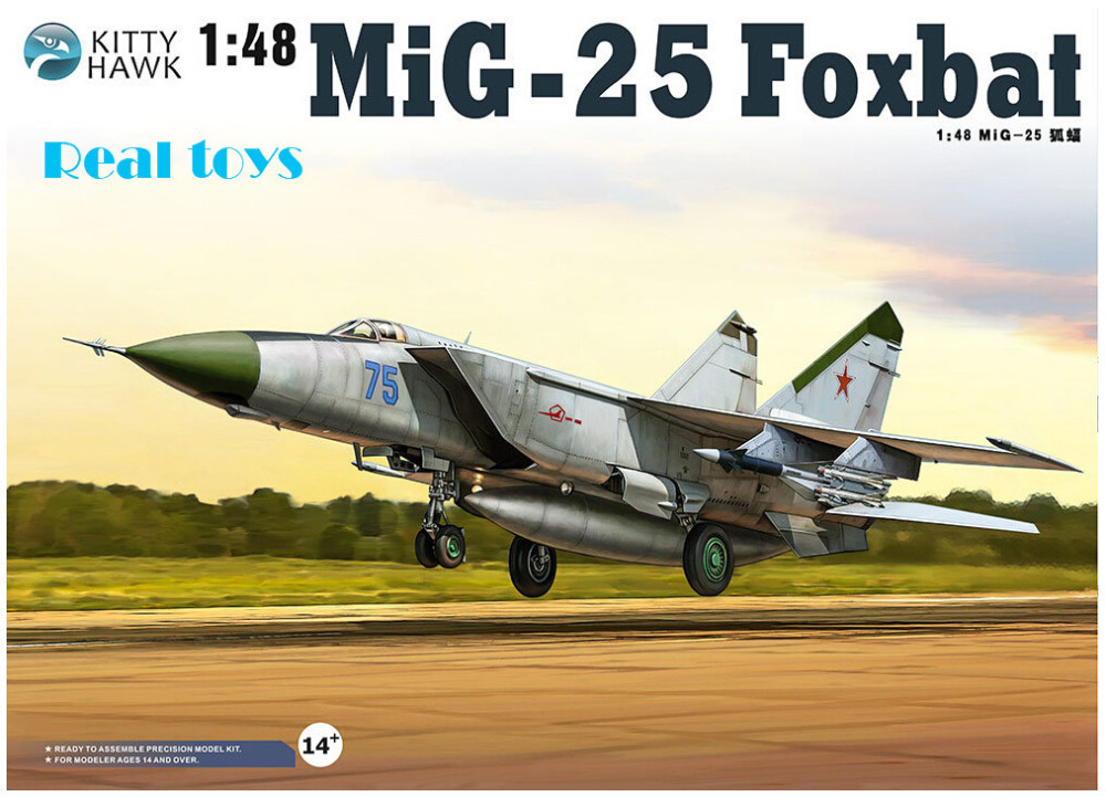 Kitty hawk KH80119 1/48 MiG-25 Foxbat plastic model kit cm150dy 12h cm200dy 12h cm300dy 12h