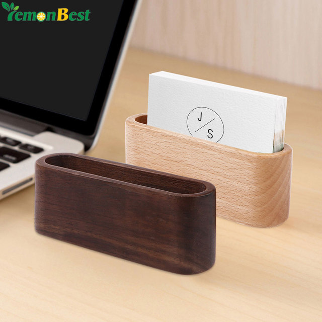 1pcs desktop name card organizer wooden box business card holder 1pcs desktop name card organizer wooden box business card holder wood credit card id card storage colourmoves