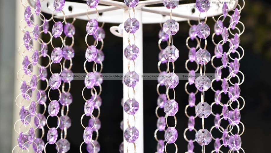 10M Acrylic Crystal Garland Diamond Hanging Bead Chains Wedding ...