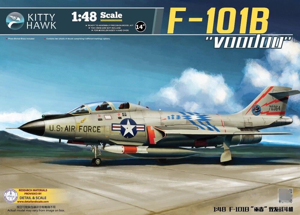 Kitty Hawk 1/48 KH80114 US F-101B Voodoo combattant en plastique modèle d'assemblage nouveau