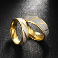 Recomendar top qualidade 316l titanium aço anéis de casamento para as mulheres homens de prata anel de noivado