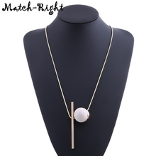 Minimalist Necklaces Pendants for Women Metal Geometric Long