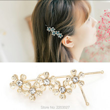 Wedding Bridal Party Crystal Five Flowers Hair Clip Hair Pin Accessories For Women Jewelry