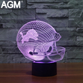 Hot NFL 3D Acrylic Helmet Table lamp Touch 7 Colors Detroit Lions 3D Desk lamps Lampara USB LED NightLight For Kids Child Gifts