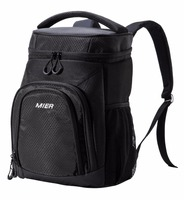 MIER Insulated Cooler Backpack Leakproof Soft Cooler Bag for Lunch, Picnic, Road Trip, Beach, Park, 24Can Outdoor Cooler Bag